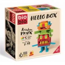 Bioblo hello box 100 briques 5 couleurs