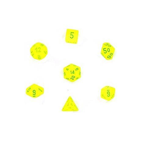 Set de dés vortex jaune/vert