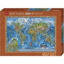 Puzzle 2000pcs Map art The world heye