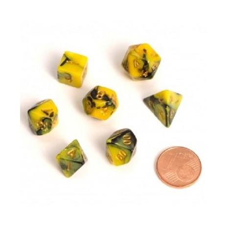 Fairy dice RPG set - yellow/black