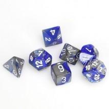 7 dés gemini en boîte blue steel w/white