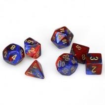 7 dés gemini en boîte blue red w/gold
