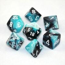 7 dés gemini en boîte black shell w/white