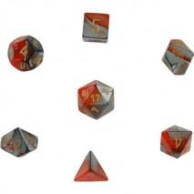 7 dés gemini en boîte orange steel w/gold