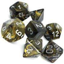 7 dés leaf en boîte black gold w/silver