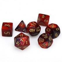 7 dés gemini en boîte purple red w/white