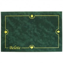 Tapis belote suédine vert 60x40 cm