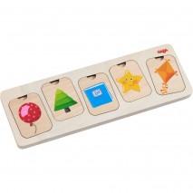 Puzzle en bois formes et couleurs