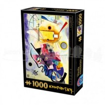 Puzzle 1000 p Yellow Red Blue V. Kandinsky D toys