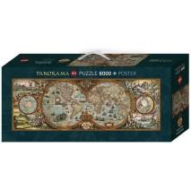 Puzzle 6000 p Hémisphère Map Heye