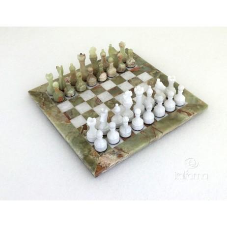 Échecs onix Blanc Vert 30x300 cm