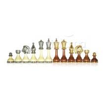 Pièces échecs bois métal fleuri fr roi 10 cm socle 3cm