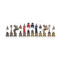 Pièces échecs métal Napoléon roi 8.2 cm socle 2.3 cm