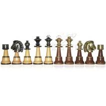 Pièces échecs bois métal staunton fr roi 12.7 cm socle 4.5cm