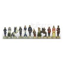 Pièces échecs Résine Samourai roi 8 cm