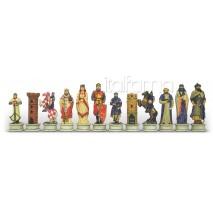 Pièces échecs Résine Croisés Sarrasins roi 12 cm