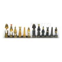 Pièces échecs Résine Égypte ancienne roi 8 cm