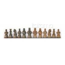 Pièces échecs Métal moyen-âge roi 9 cm