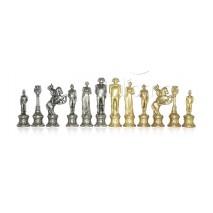 Pièces échecs métal napoléon Roi 8.2 cm