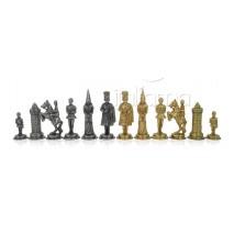 Pièces échecs métal Camelot Roi 8.9cm