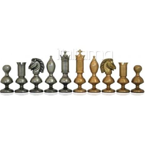 Pièces d'échecs métal Contemporaines Roi 15 cm