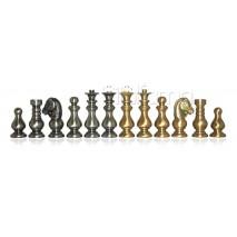 Pièces échecs Métal classique fr roi 7.5 cm socle 2.4cm