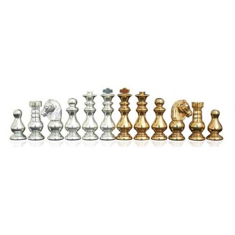 Pièces échecs Métal classique fr plaq roi 7.5 cm socle 2.4cm