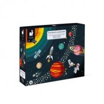 Puzzle educatif système solaire