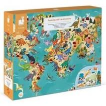 Puzzle educatif les dinosaures