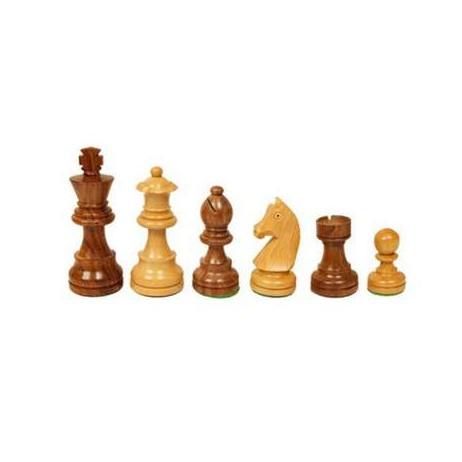 Pièces échecs staunton buis/palissandre n°3