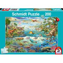 Puzzle 150 p trio découvre les dinosaures