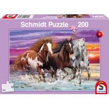 Puzzle 200 p trio de chevaux sauvages