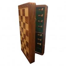 Coffret patiné échecs 38cm