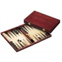 Backgammon Bois Brun 28x15cm
