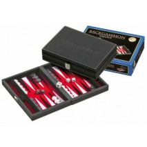 Backgamon noir et rouge 23cm