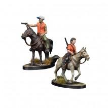 TWD Maggie et Glenn à cheval