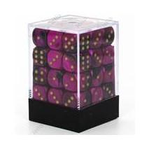 Chessex set de 36 dés 6 Gemini Noir Violet Or