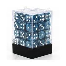 Chessex set de 36 dés 6 Lustrous Slate Blanc