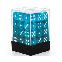 Chessex set de 36 dés 6 Transparent Sarcelle Blanc