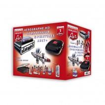 Malette aerographie HD + compresseur + UC01