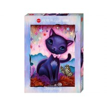 Puzzle 1000 p Dreaming Black Kitty Heye