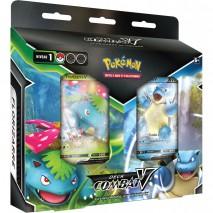 Pokémon Deck combat V Florizarre V Tortank V