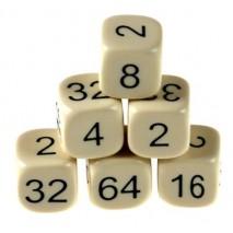 Dé doubleur backgammon 16mm résine