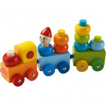 Train rond multicolore