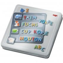 Boîte jeu magnétique lettres