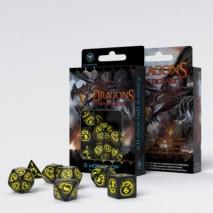Set de Dés Dragons Black & Yellow