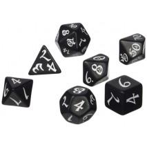Set de dés Classic RPG Black & White