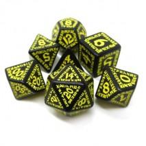 Set de Dés Runic Black & yellow