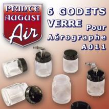 6 godets verre pour aérogA011