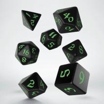 Set de Dés Classic Runic Black & Green